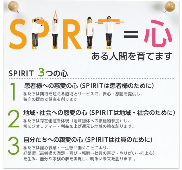 SPIRIT =心のある人間を育てます